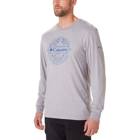Columbia Cades Cove Langarm Graphic T-Shirt Herren columbia grey heather/faceted badge